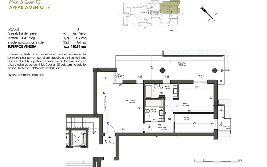 TRILOCALE CON 2 BAGNI MQ 110 – PIANO 5°