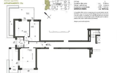 TRILOCALE CON 1 BAGNO MQ 103 – PIANO 5° (nuova disponibilità)